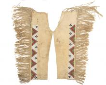 Leggings, Arapaho, circa 1890 19th century Native American Indian antique vintage art for sale purchase auction consign denver colorado art gallery museum