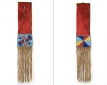 Tobacco Bag, Nez Perce, last quarter of the 19th century 19th century Native American Indian antique vintage art for sale purchase auction consign denver colorado art gallery museum