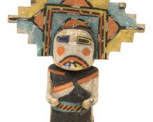 Antique vintage Kachina doll katsina, Hopi, circa 1910-1930s Salako mana gallery museum auction denver colorado indian art