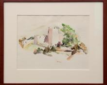 """Jozef Bakos, """"Untitled (New Mexico)"""", watercolor painting fine art for sale purchase buy sell auction consign denver colorado art gallery museum"""
