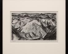"""Ross Eugene Braught, """"Colorado"""", lithograph, 1933 painting fine art for sale purchase buy sell auction consign denver colorado art gallery museum"""