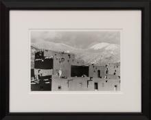 "Myron Wood, ""Taos Winter, Taos, New Mexico"", photograph, 1961 painting fine art for sale purchase buy sell auction consign denver colorado art gallery museum"