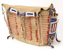 Possible Bag, Sioux, circa 1875-1900 19th century Native American Indian antique vintage art for sale purchase auction consign denver colorado art gallery museum
