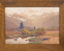 Charles Partridge Adams Autumn Afternoon Estes Park (Moraine Park, Colorado fine art for sale purchase buy sell auction consign denver colorado art gallery museum