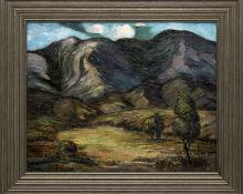 """Tabor Utley, """"Untitled (Colorado Mountains)"""", oil, circa 1930 painting fine art for sale purchase buy sell auction consign denver colorado art gallery museum"""