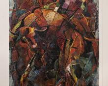 """Walter Olin Green, """"Bullfight"""", oil, circa 1950s for sale purchase consign auction denver Colorado art gallery museum"""