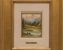 Richard Tallant, RH R.H. Tallant colorado landscape oil painting 19th century