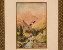 Richard Tallant, Mount of the Holy Cross, Colorado, gouache painting fine art for sale purchase buy sell auction consign denver colorado art gallery museum