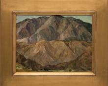 """Nellie Knopf, """"Mountain Study near Ziuapau Mexico"""", oil, circa 1940 painting fine art for sale purchase buy sell auction consign denver colorado art gallery museum"""