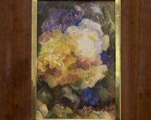 Anna Keener Flowers vintage still life oil painting fine art for sale purchase buy sell auction consign denver colorado art gallery museum