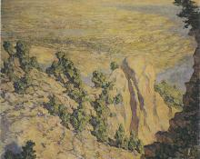 "Robert Lewis Reid, ""Broadmoor from Sublime Point"", oil, 1920 broadmoor academy colorado springs"