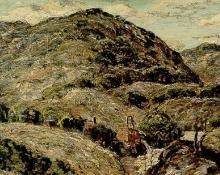 "Ernest Lawson, ""Untitled (Cripple Creek Mine)"", oil, 1924 broadmoor academy colorado"