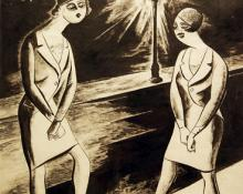 "Adolf Arthur Dehn, ""Untitled (Study for New Masses)"", ink on paper, c. 1935"