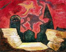 """Manuel Bromberg, """"Untitled (The War Years)"""", oil, 1947"""