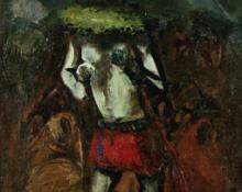"Louis Leon Ribak, ""Yeibichai Dancer"", oil, c. 1940"