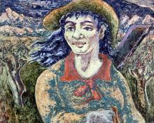 "George Biddle, ""Calamity Jane"", oil, d. 1949"