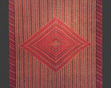 Saltillo Serape, Mexican, c. 1775-1800, 18th century, classic hispanic textile weaving