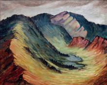 "Tabor Utley, ""Mountain Landscape"", oil, 1940"