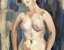 "Frances Marian Cronk, ""Untitled (Nude)"", mixed media, 1932"