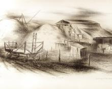 """George Vander Sluis, """"Colorado Farm"""", lithograph, 1941"""