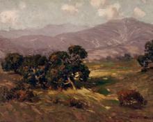 "Edgar Alwin Payne, ""California Landscape"", oil, c. 1920"