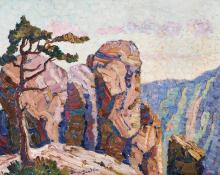 "Sven Birger Sandzen, ""Edge of the Range, Manitou, Colorado"", oil, 1919"