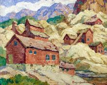 "Sven Birger Sandzen, ""Abandoned Mines, Nevadaville, Colorado"", oil, 1940"