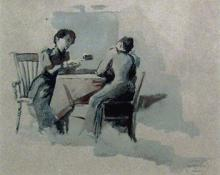 """Carl Eric Olaf Lindin, """"Untitled"""", watercolor on paper, 1893"""
