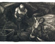 "Archie Musick, ""Hardrock Miners"", lithograph, c. 1938"
