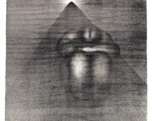"""Arthur George Murphy, """"On a Freight Train in a Tunnel"""", lithograph, c. 1940"""