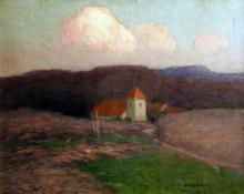 "Carl Eric Olaf Lindin, ""Untitled (Styrso Church, Sweden)"", oil on canvas, c. 1902"