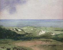 "Carl Eric Olaf Lindin, ""Nantucket"", watercolor on paper, c. 1915"