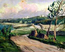 "Carl Eric Olaf Lindin, ""Untitled (Bermuda)"", watercolor on paper, c. 1916-7"