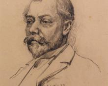 "Carl Eric Olaf Lindin, ""Untitled (Portrait)"", graphite on paper, 1893"