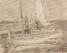 """Carl Eric Olaf Lindin, """"Untitled"""", graphite on paper, c. 1910"""
