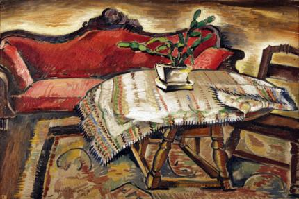 "Peppino Gino Mangravite, ""Still Life with Cactus on Table"", oil on canvas, 1928"