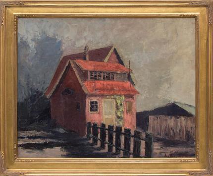 "Jon Blanchette, ""Mott Street, Santa Cruz (California)"", oil painting fine art for sale purchase buy sell auction consign denver colorado art gallery museum"