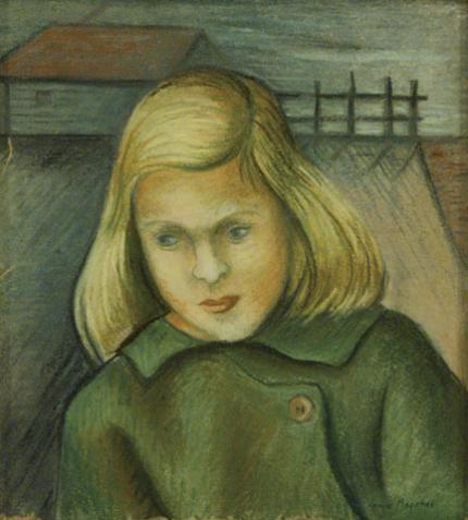 "Jenne Magafan, ""The Farmers Child"", pastel on paper, c. 1940"