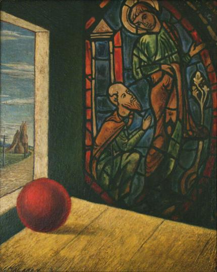 "Jenne Magafan, ""Stained Glass Window"", oil, 1933"