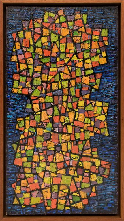 "Paul Kauvar Smith, ""Painted Mosaic"", oil, c. 1955 for sale purchase consign auction denver Colorado art gallery museum"