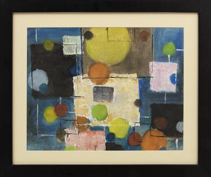 "Charles Ragland Bunnell, ""Untitled (Abstract)"", oil, 1962, painting, for sale purchase consign auction denver Colorado art gallery museum"