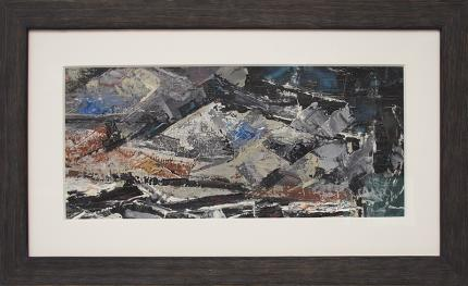 "Charles Ragland Bunnell, ""Untitled (Colorado Mountains)"", oil, 1955 abstract colorado springs painting fine art for sale purchase buy sell auction consign denver colorado art gallery museum"