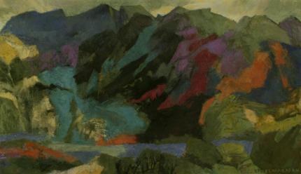 "Ethel Magafan, ""Where the Eagles Fly"", tempera on board, c. 195"