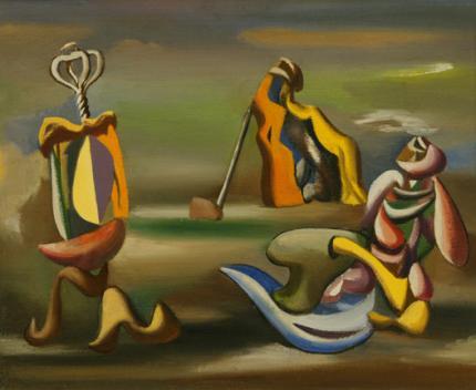 "Jan Matulka, ""Surrealist Arrangement"", oil on canvas, c. 1934"