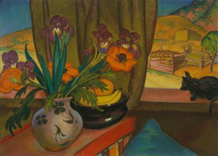 "William Penhallow Henderson, ""Iris and Poppies"", oil, c. 1925"