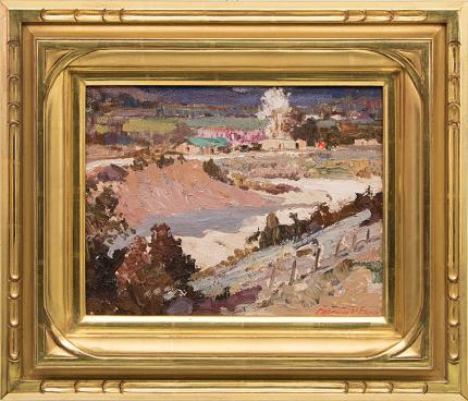Fremont Ellis, Velarde Valley (New Mexico), circa 1940 oil painting fine art for sale purchase buy sell auction consign denver colorado art gallery museum