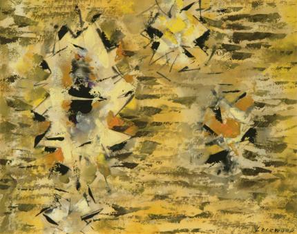 "Ward Lockwood, ""Untitled"", mixed media, c. 1960"