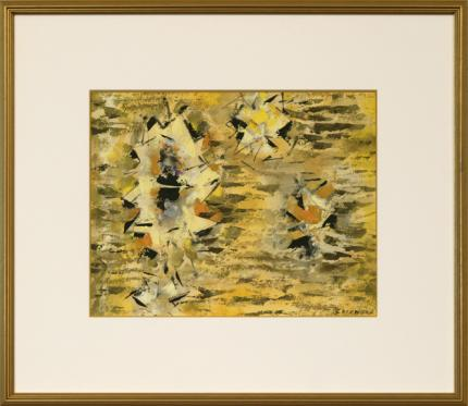 "Ward Lockwood, ""Untitled"", mixed media, c. 1960 for sale purchase consign auction denver Colorado art gallery museum"