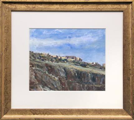 "Wolfgang Pogzeba, ""Acoma Pueblo"", gouache, 1978 for sale purchase consign auction denver Colorado art gallery museum"