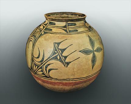 cochiti storage jar, historic pueblo pottery circa 1860 19th century antique